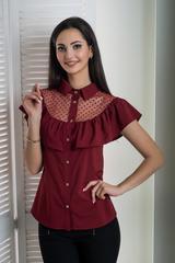 Лея. Сучасна стильна молодіжна сорочка. Бордо