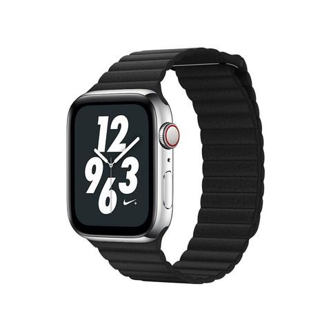 Ремешок кожаный COTEetCI W7 Leather Magnet Band (WH5206-BK) для Apple Watch 44мм/ 42мм Черный