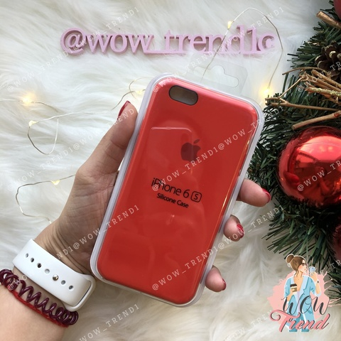 Чехол iPhone 6/6s Silicone Case /red/ красный original quality