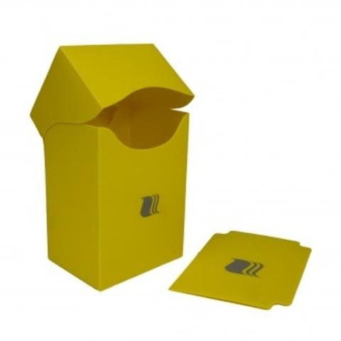 Пластиковая коробочка Blackfire вертикальная - желтая (80+ карт)