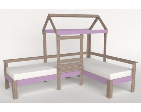 Кровать-домик АВАРА-2 левая  1700-700 /2552*1800*1832/