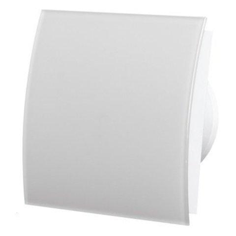 Вентилятор накладной энергосберегающий бесшумный MMotors JSC MMP-O-UE 100 Овал Стекло/Белый