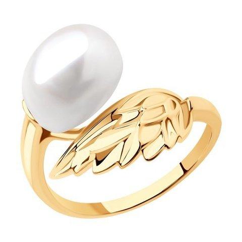 791207 - Кольцо из золота с жемчугом