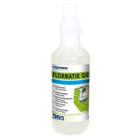 Средство для машинной и ручной мойки керамогранита и напольной плитки Lakma Profimax Flormatik Gres Alkali 1 л (концентрат)