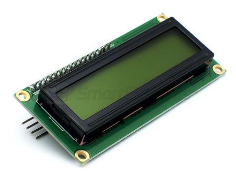 Дисплей LCD1602, 2-строчный, желтый, с I2C модулем