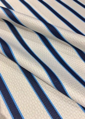 Фактурная плательно-костюмная ткань из хлопка с добавлением нейлона