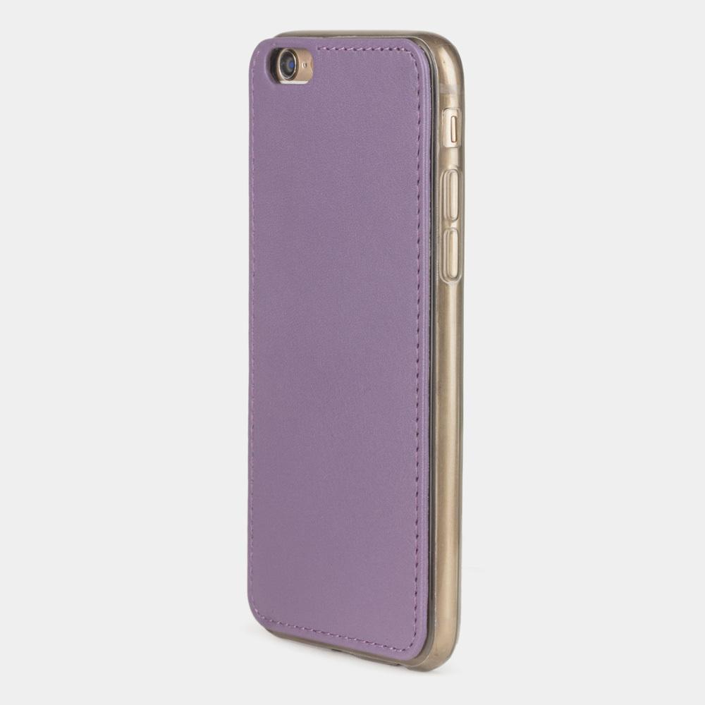 Чехол-накладка для iPhone 6/6S из натуральной кожи теленка, фиолетового цвета