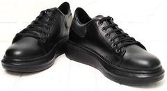 Женские черные кроссовки сникерсы на платформе EVA collection 0721 All Black.