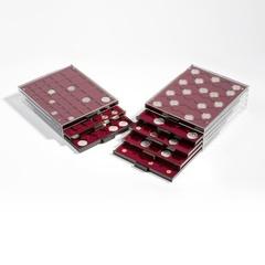 Кассета MB на 54 ячеек для монет без капсул диаметром 26,75 мм бордовый ложемент