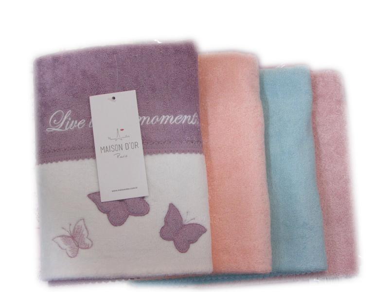 Полотенца МОНИКА БАБОЧКИ - MONIQUE KELEBEK  полотенце махровое Maison Dor Турция МОНИКА_КЕЛЕБЕК.png
