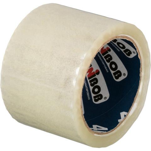 Скотч клейкая лента упаковочная Unibob прозрачная 72 мм х 66 м толщина 40 мкм