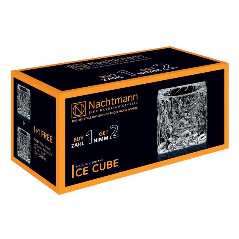 Купить набор из 2-х хрустальных подсвечников,7см,Ice Cube, Nachtmann