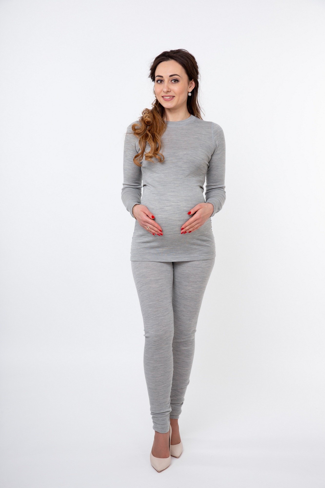 Кофта-термо для беременных 08104 серый