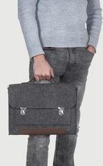 Черный войлочный портфель Gmakin для Macbook Air/Pro 13,3 на металлических застежках
