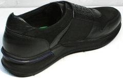 Черные осенние кроссовки мужские Luciano Bellini 1087 All Black