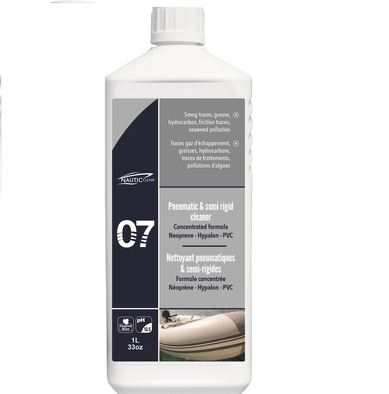 Propertie of Pneumatic & semi-rigid cleaner №07