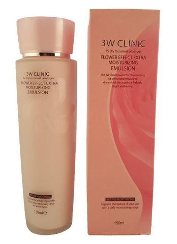 УВЛАЖНЕНИЕ/Эмульсия для лица Flower Effect Extra Moisture Emulsion, 150 мл 3W CLINIC