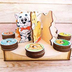 Сортер деревянный Голодные зверушки ToySib 07013