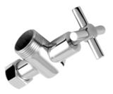 Вентиль угловой (КОМПЛЕКТ 2 ШТ.) хром внутр. внутр. 3/4*1