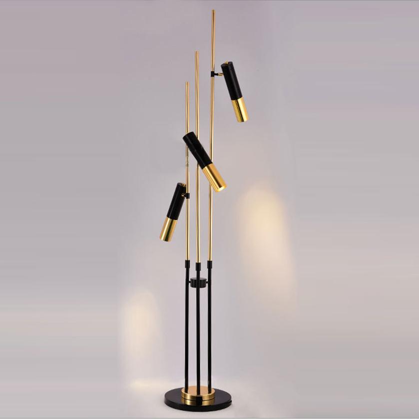 Напольный светильник копия Ike by Delightfull (3 плафона)