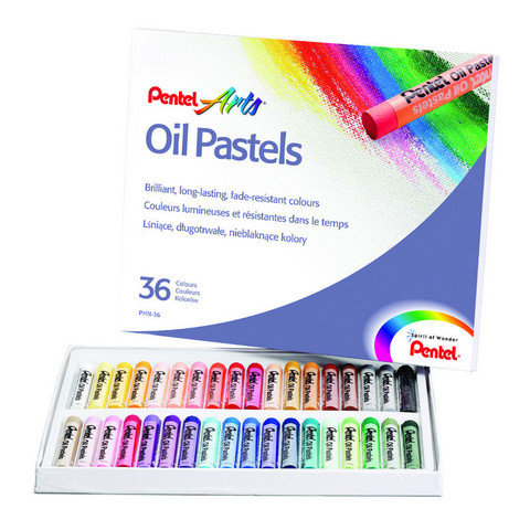 Пастель Pentel масляная 36 цветов