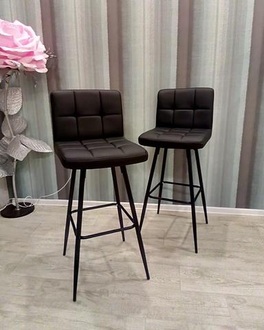 Интерьерный барный стул на четырех ножках Paskal Steel (стул стилиста/бровиста)