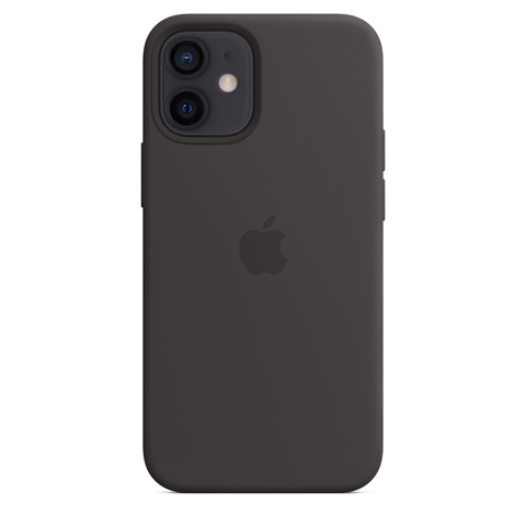 Apple Silicone Case на iPhone 12 Mini (Черный)