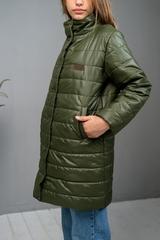 Пальто на кнопках хаки