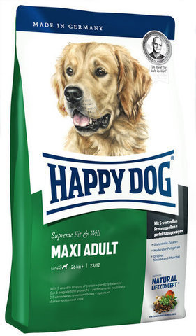 купить Happy Dog Supreme Fit&Well Maxi Adult сухой корм для собак весом свыше 26 кг с нормальными потребностями в энергии 15 кг