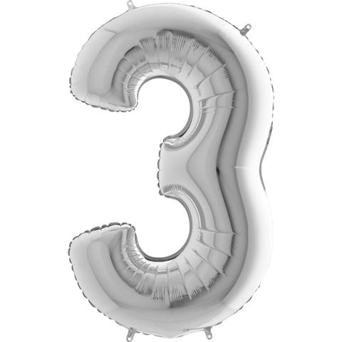 Цифра 3 (Серебряная)