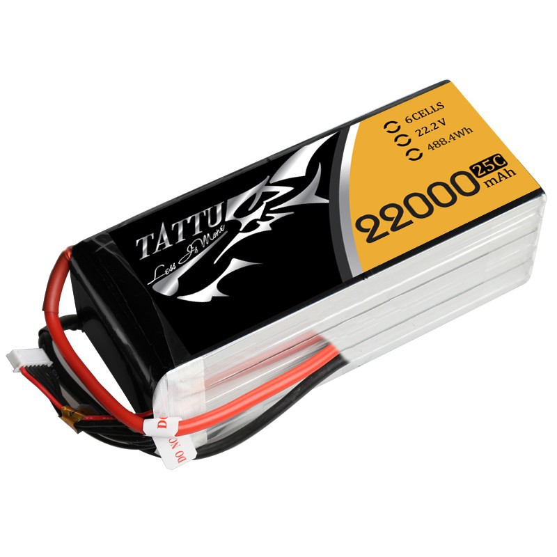 Аккумуляторная батарея Gense Ace Tattu 22000mAh 22.2V 25C 6S1P Lipo Battery Pack для мощных и больших коптеров