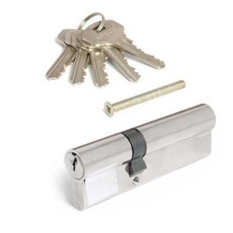 Личинка замка. Цилиндрический механизм Apecs SC-90(30/60)-Z-NI Ключ/ключ (30*60 или 25*10*55)