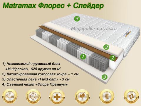 Матрас Матрамакс Флорес + Слейдер купить в Москве от Megapolis-matras.ru