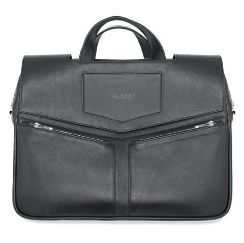 Кожаный портфель с клапаном
