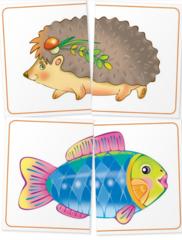 Набор занимательных карточек для дошколят. Тигрёнок