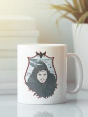 Кружка с рисунком Игра престолов, Джон Сноу (Game of Thrones, Jon Snow) белая 004