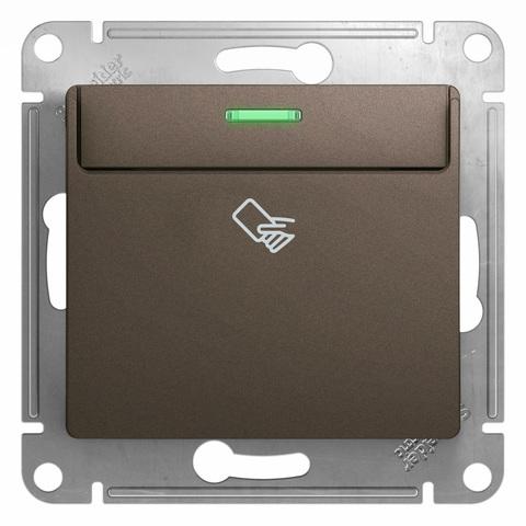 Карточный выключатель. Цвет Шоколад. Schneider Electric Glossa. GSL000869