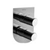 Встраиваемый смеситель для душа TZAR 341503SNC никель, на 3 выхода - фото №1