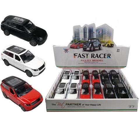 Набор машинок (в ассортименте) FAST RACER DIE CAST METAL Джип № 1, 1кор*24бл*12шт