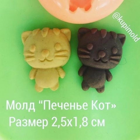 Молд « Печенье кот »