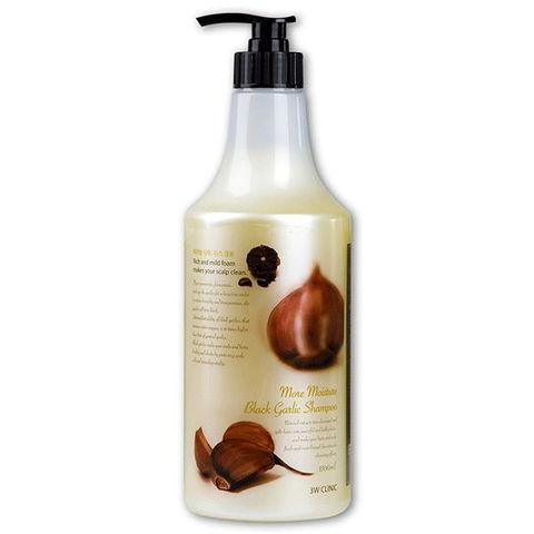 Шампунь для волос ЧЕРНЫЙ ЧЕСНОК More Moisture Black Garlic Shampoo, 1500 мл 3W CLINIC
