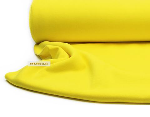 Футер 3-ка с начесом, лимонный, 330гр