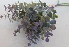 Искусственная зелень эвкалипт, букет 3 объемные ветки, 36 см.