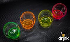 Набор цветных стаканов для воды Crystalex Crazy, 390 мл, 4 шт, фото 2