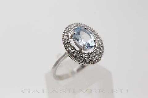 Кольцо с топазом и цирконом из серебра 925