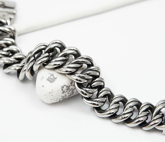 BM505 Тяжелый мужской браслет из стали (21 см) фото 03