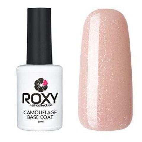 Камуфлирующее базовое покрытие ROXY nail collection К17 rubber - бежевая с шиммером (10 ml)