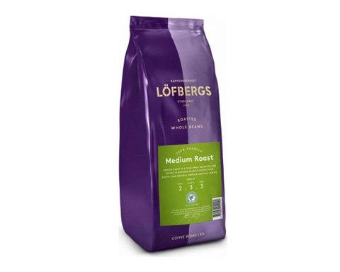 купить кофе в зернах Lofbergs Medium Roast, 1 кг