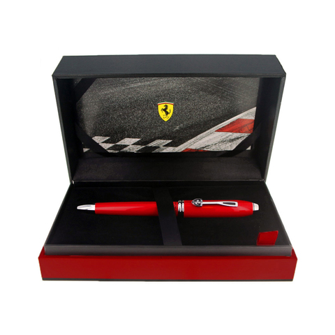Cross Townsend - Ferrari Glossy Rosso Corsa Red Lacquer/Rhodium, шариковая ручка123