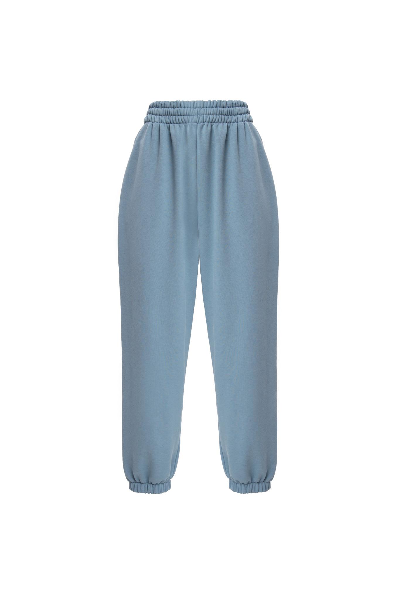 Брюки из футера цвет джинсы
